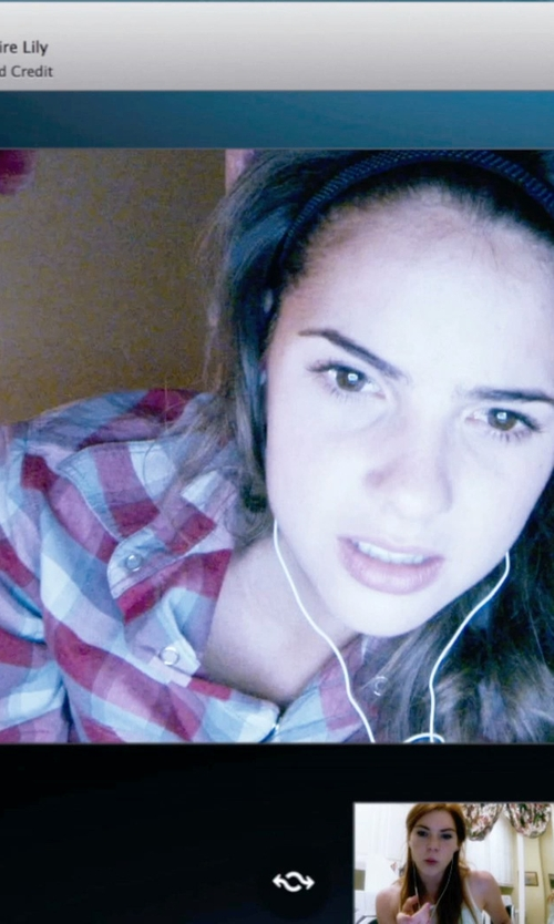 Shelley Hennig with Mavi Jeans Plaid Shirt in Unfriended