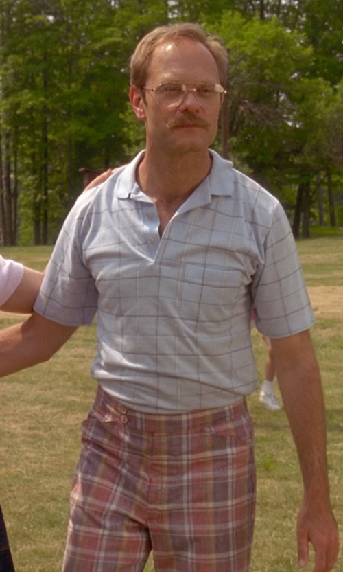 David Hyde Pierce with Van Heusen Printed Windowpane Check Polo Shirt in Wet Hot American Summer