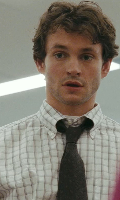Hugh Dancy with David Donahue Trim Fit Check Dress Shirt in Confessions of a Shopaholic