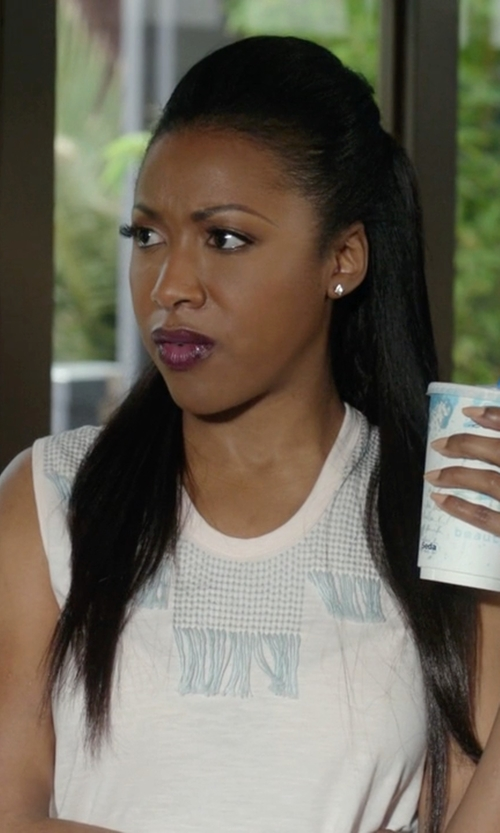 Gabrielle Dennis with Prana Cassi Tank Top in Rosewood