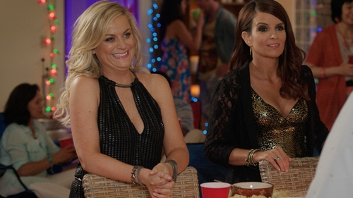 Amy Poehler with Tom Ford Leather Nashville Bracelet in Sisters
