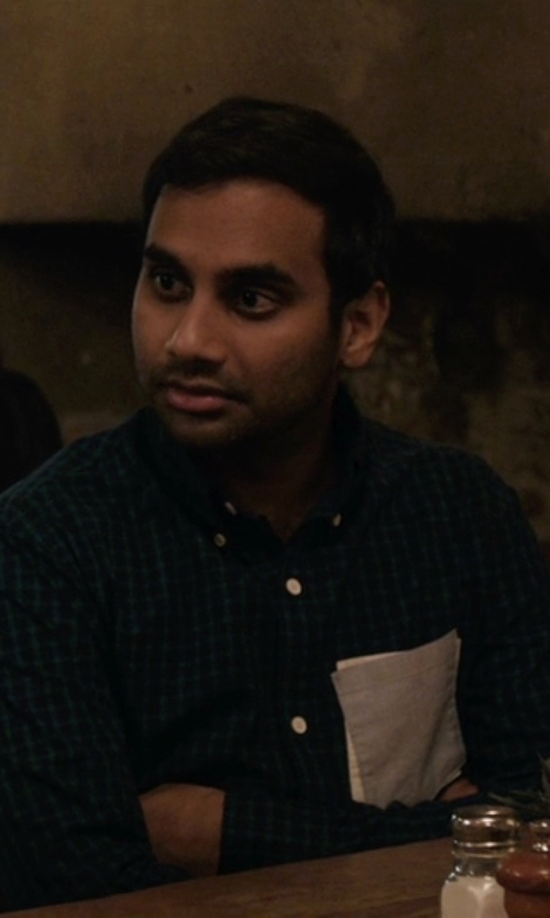 Aziz Ansari with 7 Diamonds Plaid Sportshirt in Master of None