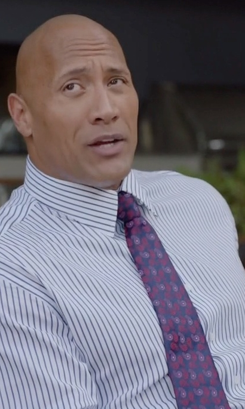Dwayne Johnson with Stefano Ricci Neat Paisley-Print Silk Tie in Ballers