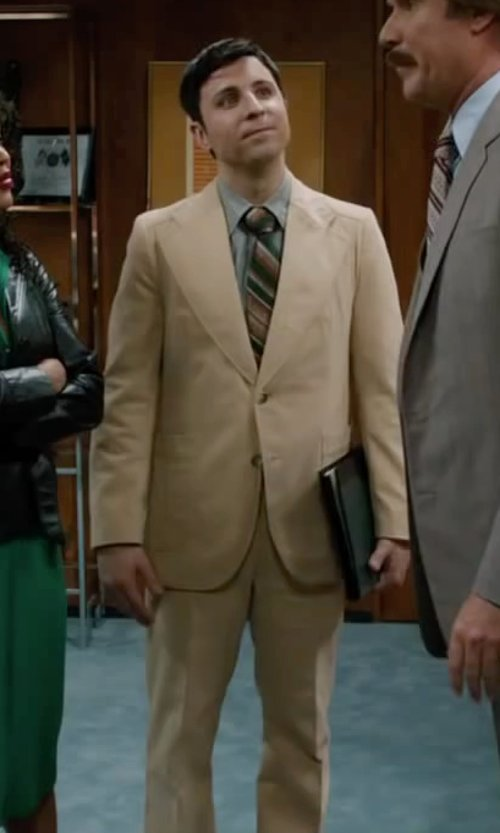 Dave Pileggi with J.Crew Ludlow Suit Jacket With Double Vent In Italian Chino in Anchorman 2: The Legend Continues