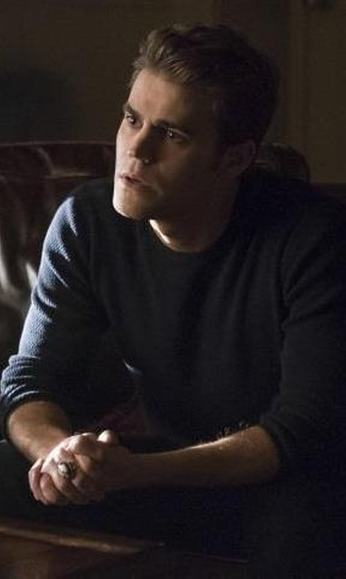 Paul Wesley with MSGM Crew Neck Sweatshirt in The Vampire Diaries