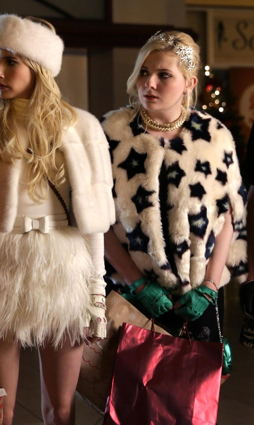 Abigail Breslin with Jennifer Behr Izarra Voilette Headband in Scream Queens