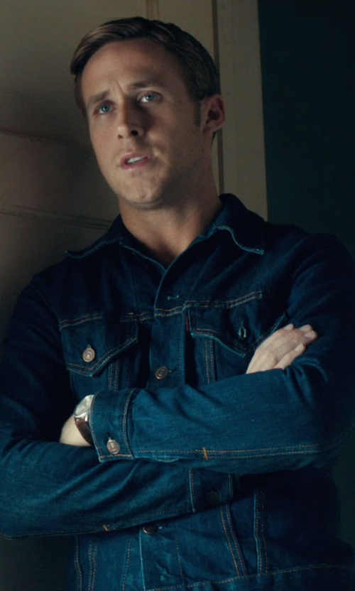 Ryan Gosling with Levi's Vintage Trucker Jacket in Drive