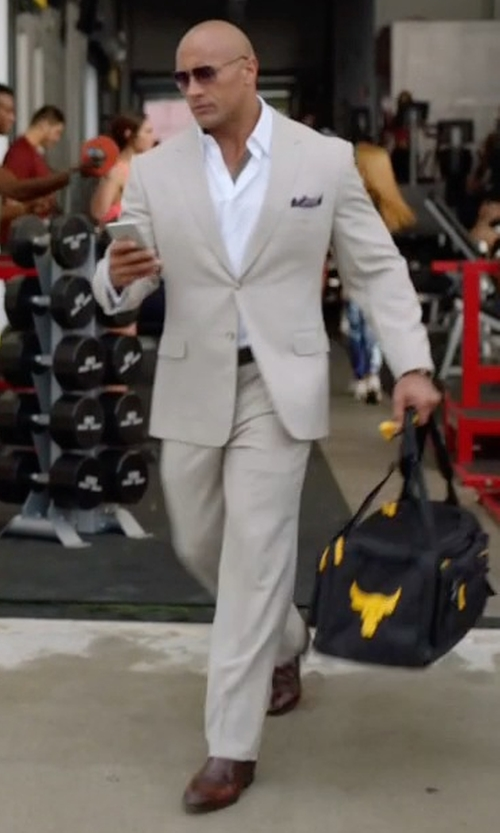 Dwayne Johnson with UA x Project Rock Range Duffle Bag in Ballers