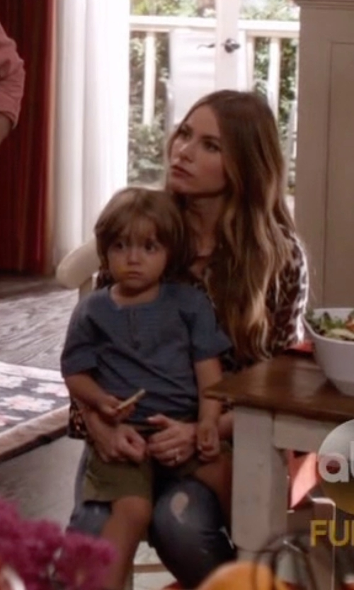 Jeremy Maguire with Tailor Vintage Boys Henley Tee Shirt in Modern Family
