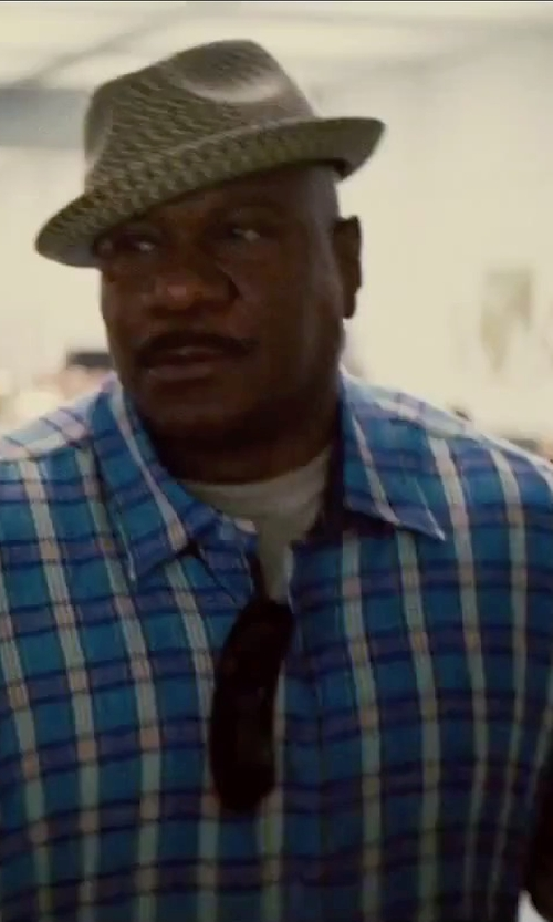 Ving Rhames with Polo Ralph Lauren Short-Sleeved Plaid Poplin Shirt in Mission: Impossible - Rogue Nation
