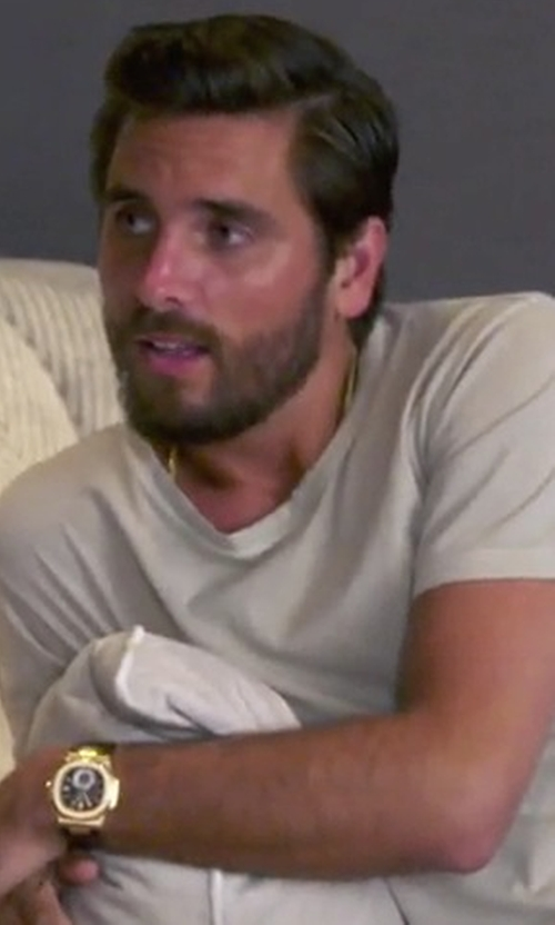 Scott Disick with John Elliott Washed Mercer Tee in Keeping Up With The Kardashians