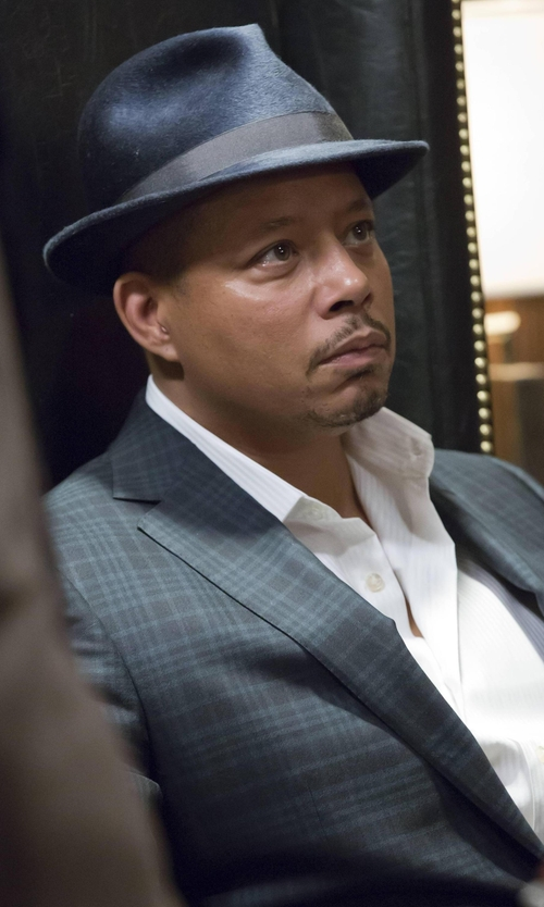 Terrence Howard  with Brooks Brothers Regent Fit Plaid Sport Coat in Empire
