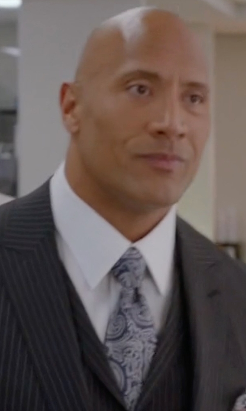 Dwayne Johnson with Countess Mara Augustin Paisley Tie in Ballers