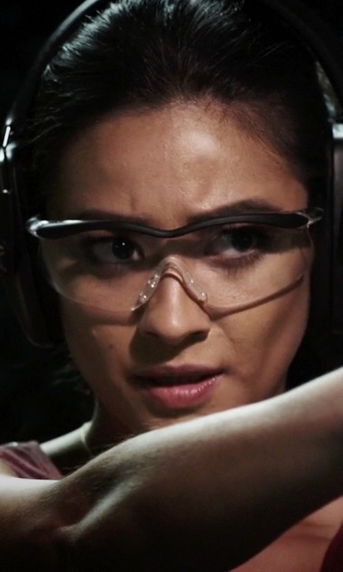 Shay Mitchell with Uvex Genesis Safety Eyewear in Pretty Little Liars