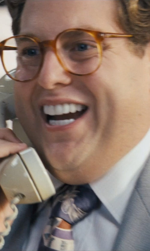 Jonah Hill with John W. Nordstrom Woven Silk Tie in The Wolf of Wall Street