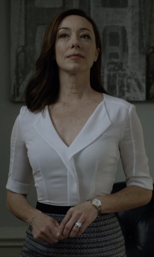 Molly Parker with Rolex Two Tone Midsize Datejust Watch in House of Cards