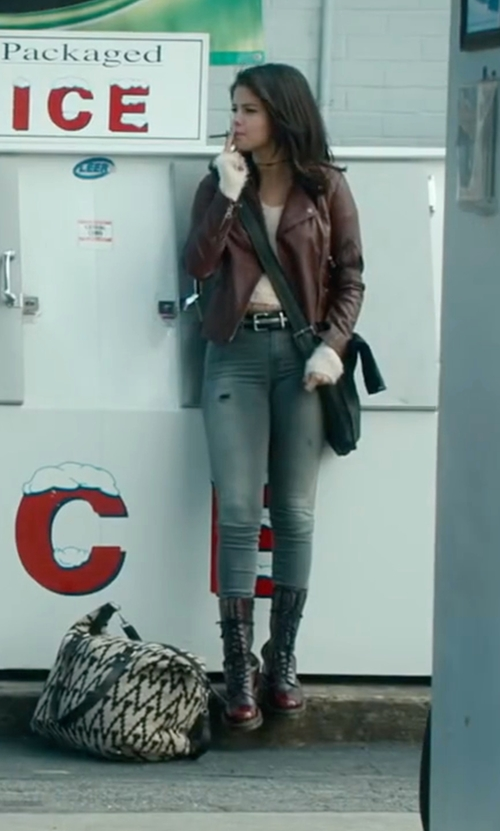 Selena Gomez with Dr. Martens 1490 Lace Up Boots in The Fundamentals of Caring