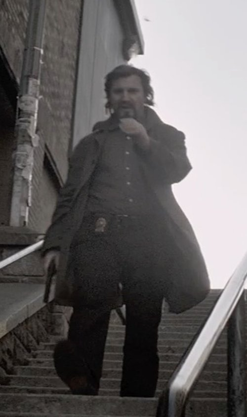 Liam Neeson with Marc Jacobs Whitby Trousers in A Walk Among The Tombstones