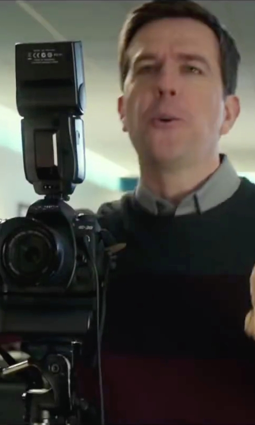 Ed Helms with Nikon Digital SLR Camera in Love the Coopers