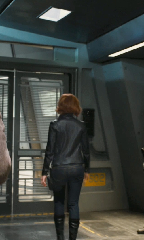 Scarlett Johansson with Dolce & Gabbana Skinny Denim Jeans in Marvel's The Avengers