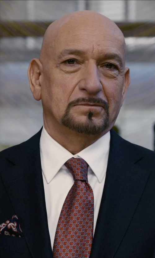 Ben Kingsley with Etro Paisley-Print Silk Pocket Square in Self/Less
