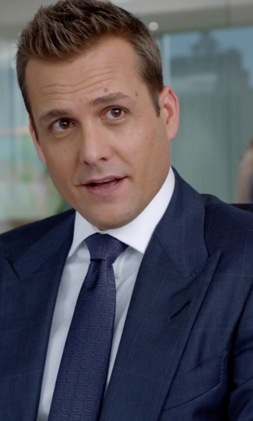 Gabriel Macht with Brunello Cucinelli Windowpane Two-Piece Wool Suit in Suits
