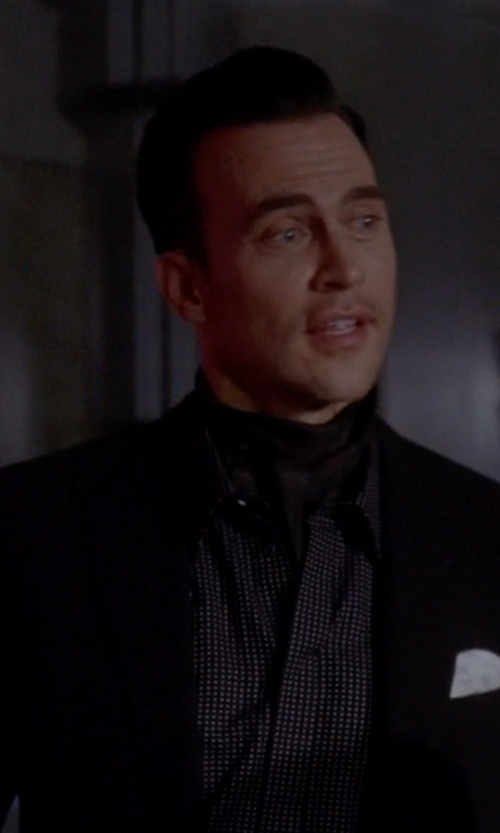 Cheyenne Jackson with Banana Republic Gingham Shirt in American Horror Story