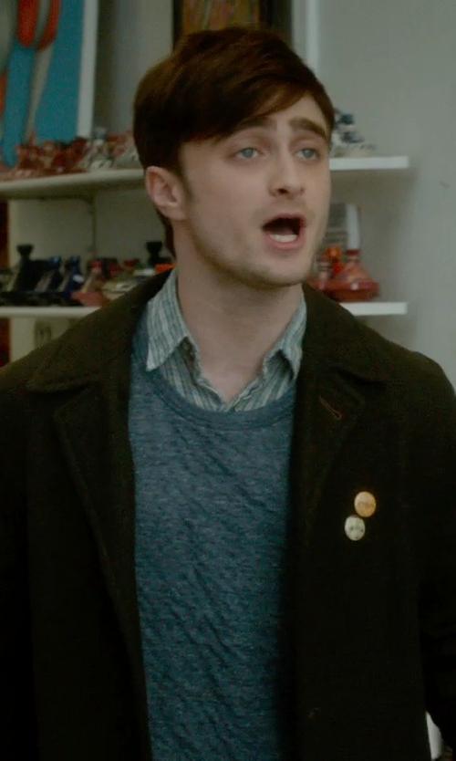 Daniel Radcliffe with Van Laack Rivara Multi-Stripe Shirt in What If