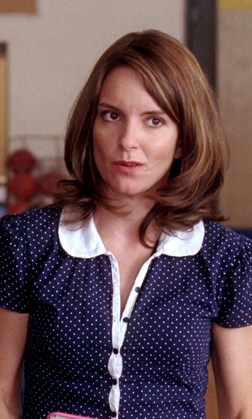 Tina Fey with Forever 21 Polka Dot Chiffon Blouse in Mean Girls
