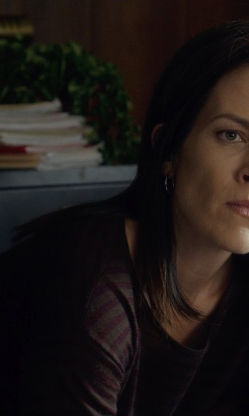 Annabeth Gish with Prada Stripe Sweater in Before I Wake