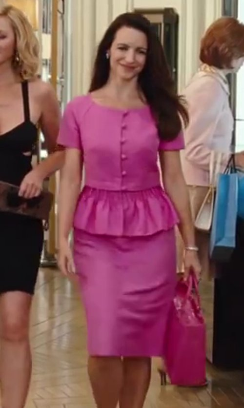 Kristin Davis with Dior Pencil Skirt in Sex and the City 2
