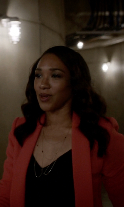 Candice Patton with BCBGMAXAZRIA Emmerson Cropped Blazer in The Flash