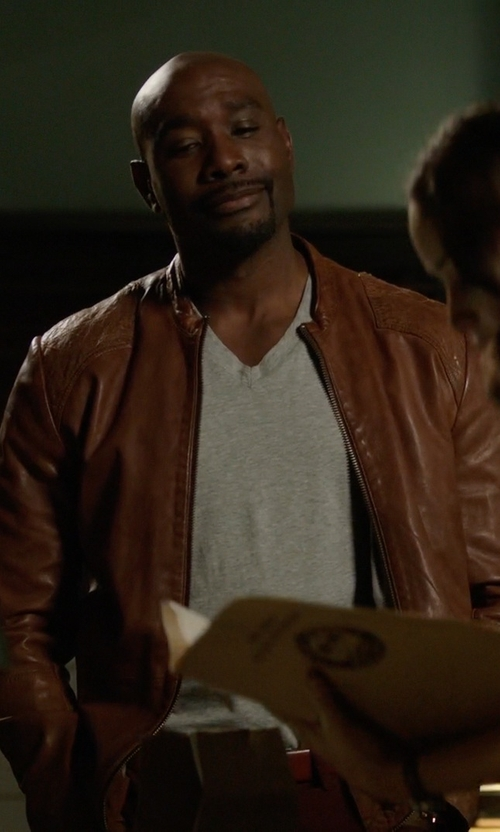 Morris Chestnut with Boss Orange Men's Jips7 Sheep-Leather Jacket in Rosewood