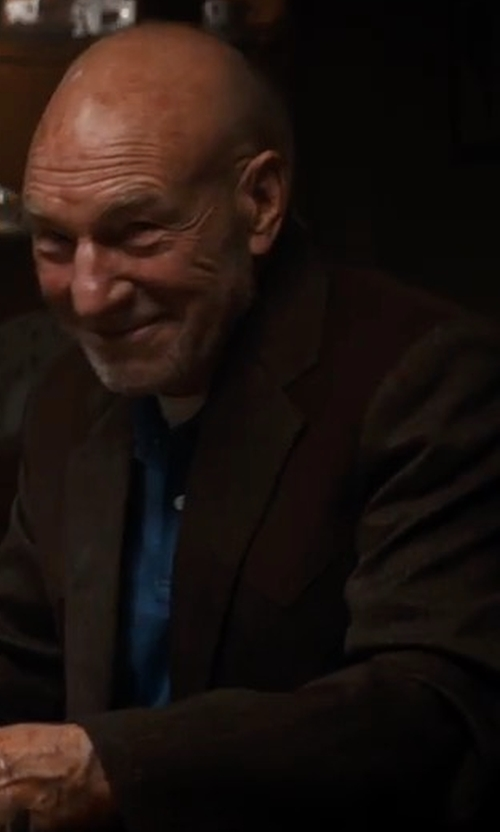 Patrick Stewart with Pal Zileri Silk Blend Two-Button Coat in Logan