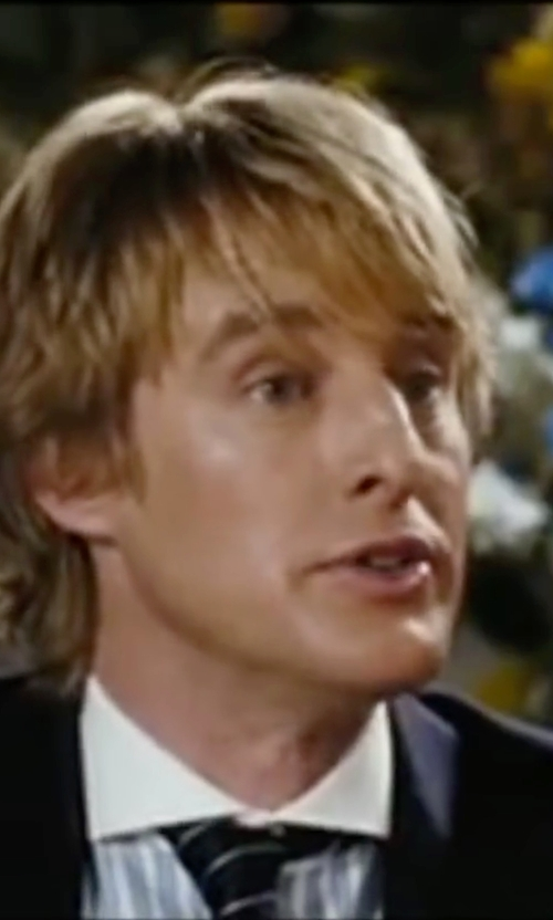 Owen Wilson with Stefano Ricci Striped Dress Shirt in Wedding Crashers