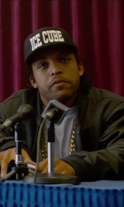 O'Shea Jackson Jr. with Ice Cube IC Logo Baseball Cap in Straight Outta Compton
