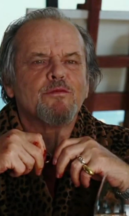 Jack Nicholson with Fortuning's JDS Leopard Print Robe in The Departed