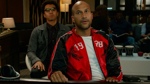 Keegan-Michael Key with Diesel Red Bomber Jacket in Pitch Perfect 2