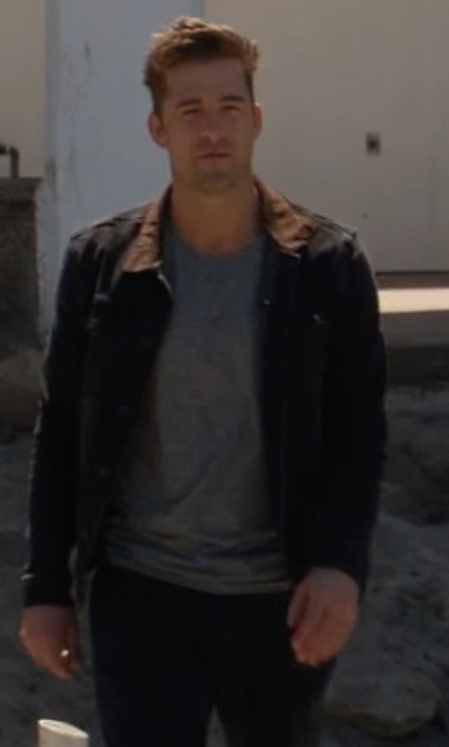 Scott Speedman with AllSaints Bering Denim Jacket in Animal Kingdom