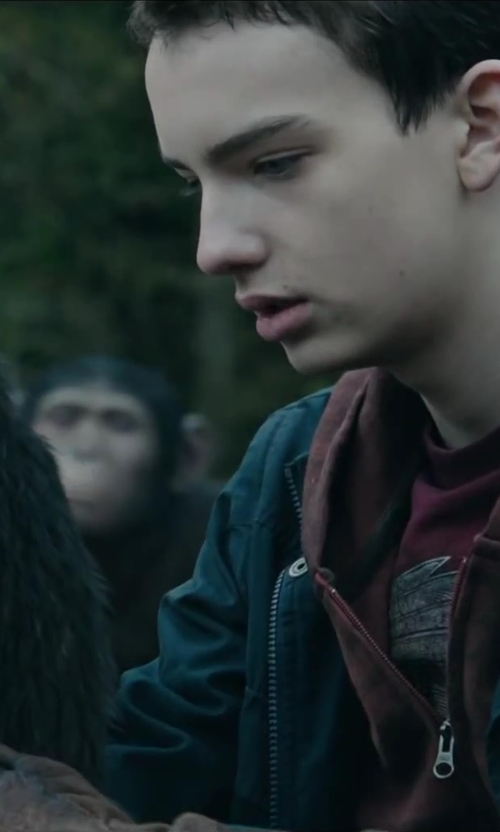 Kodi Smit-McPhee with Shades of Grey by Micah Cohen M65 Jacket in Dawn of the Planet of the Apes