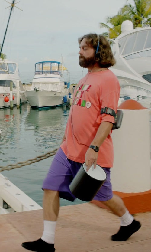 Zach Galifianakis with Dearfoams Men's Closed Back Slipper in Masterminds