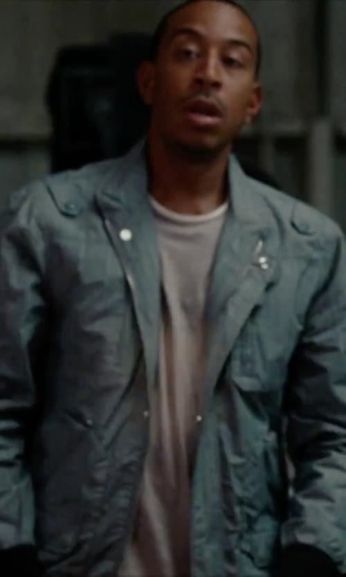 Ludacris with Ben Sherman 'Harri' Faded Blue Cotton Jacket in No Strings Attached