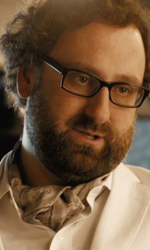Eric Wareheim with Ascot Accessories Paisley Silk Ascot in Master of None