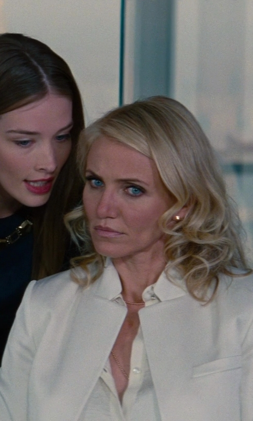 Cameron Diaz with Vince Button Down Blouse in The Other Woman
