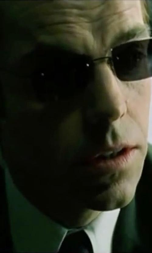 Hugo Weaving with Lauren Ralph Lauren Ascot Silk Tie in The Matrix
