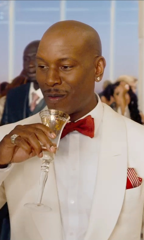 Tyrese Gibson with Gold and Watches Sterling Silver Diamond Square Mens Ring in Furious 7