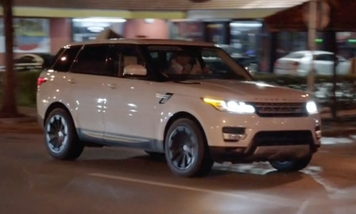 Dwayne Johnson with Land Rover Range Rover Sport Autobiography SUV in Ballers