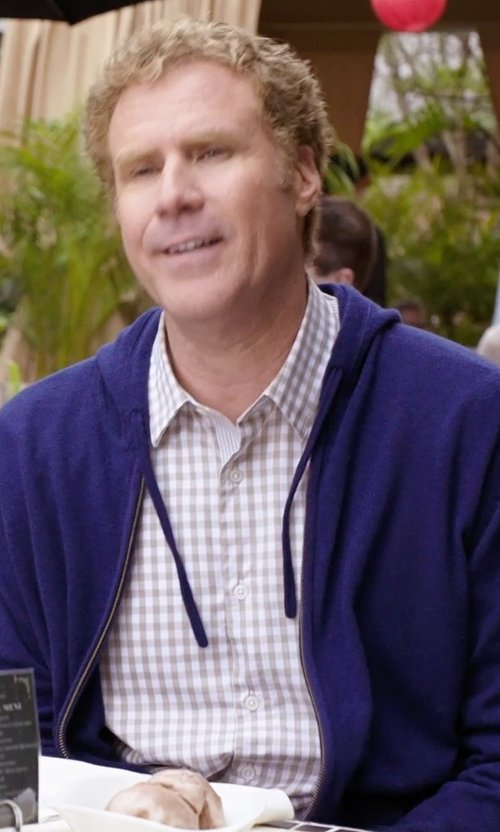 Will Ferrell with Corneliani Check Cotton Sportshirt in Get Hard