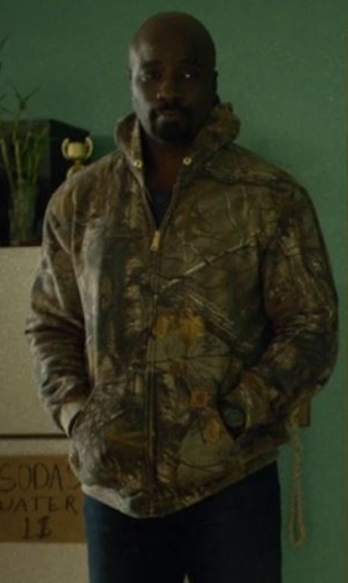 Mike Colter with Carhartt Camo-Print Hoodie in Marvel's Luke Cage
