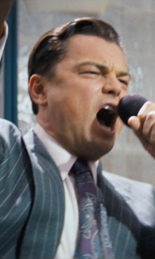 Leonardo DiCaprio with FORSYTH Silk Paisley Tie in The Wolf of Wall Street